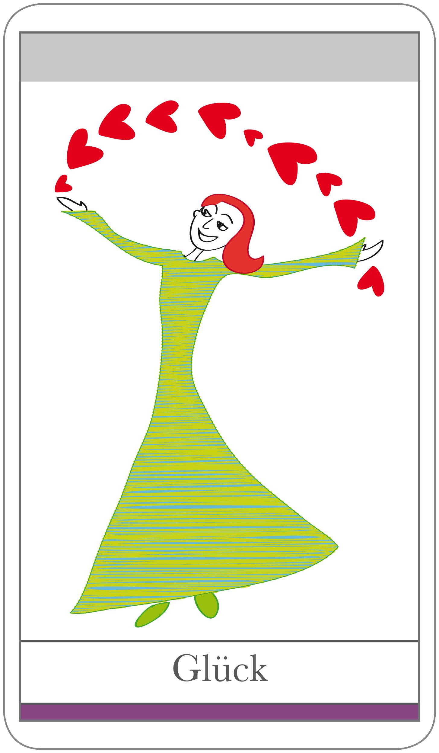 Karten Beziehung: Thema Glück