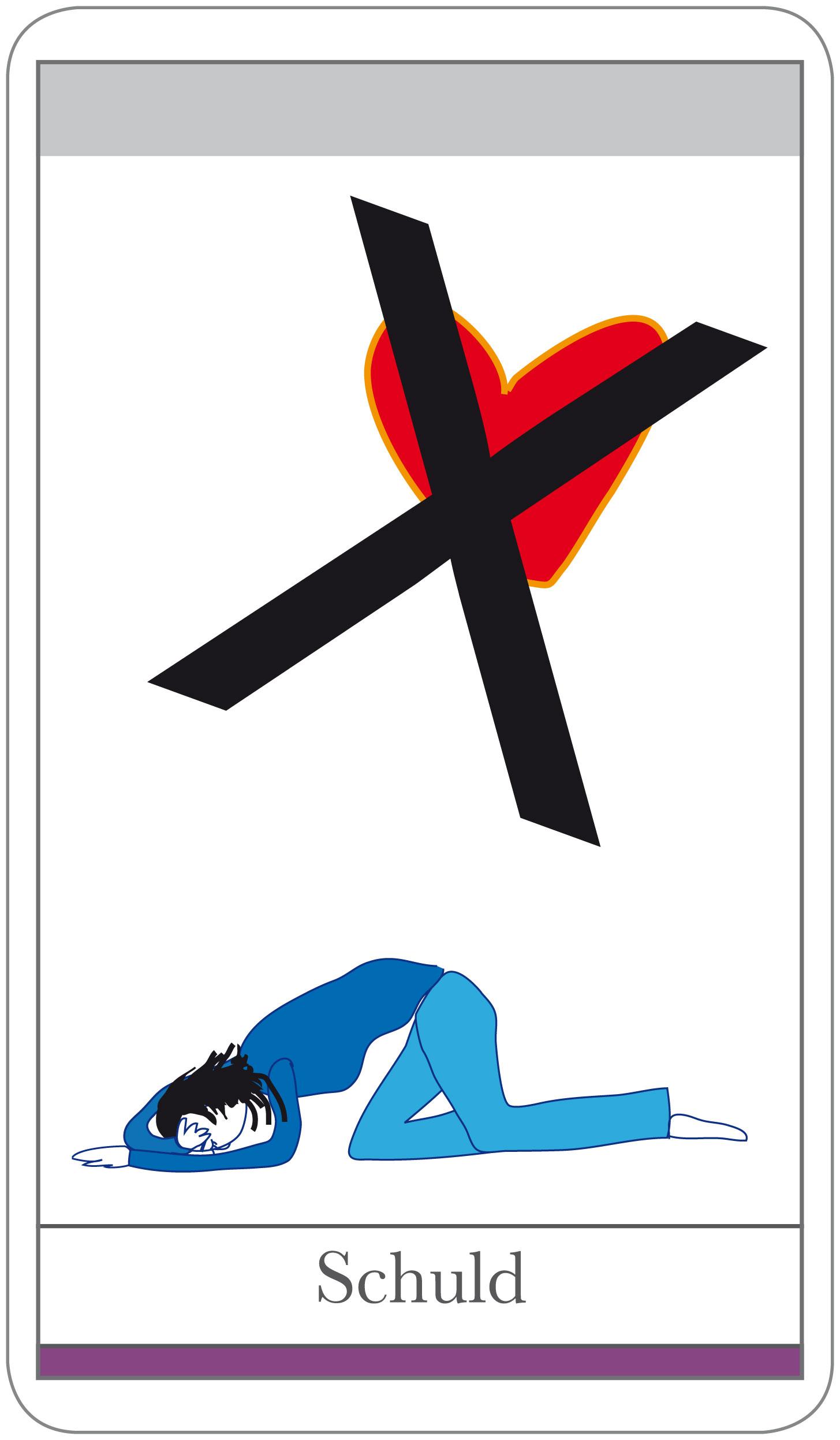Karten Beziehung: Thema Schuld