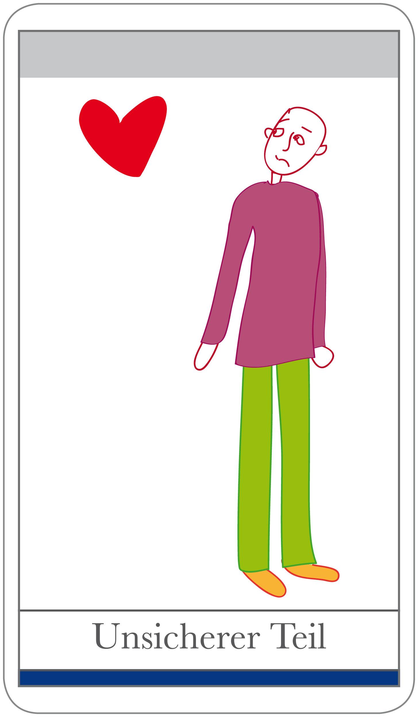 Karten Beziehung: Persönlichkeits-Teil: Unsicherer Teil