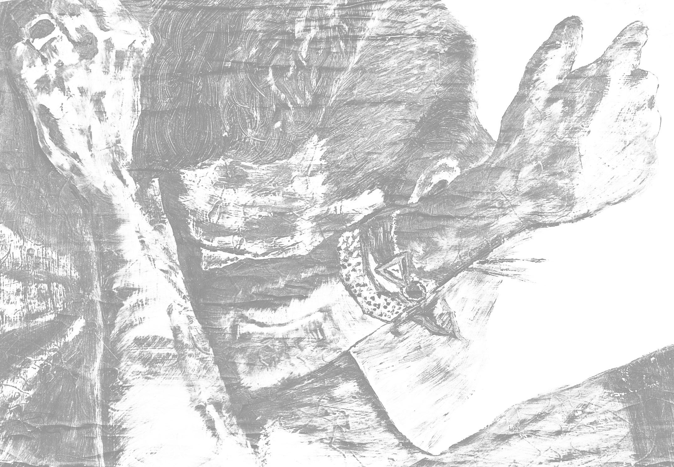 Zeichnung zu Gemälde